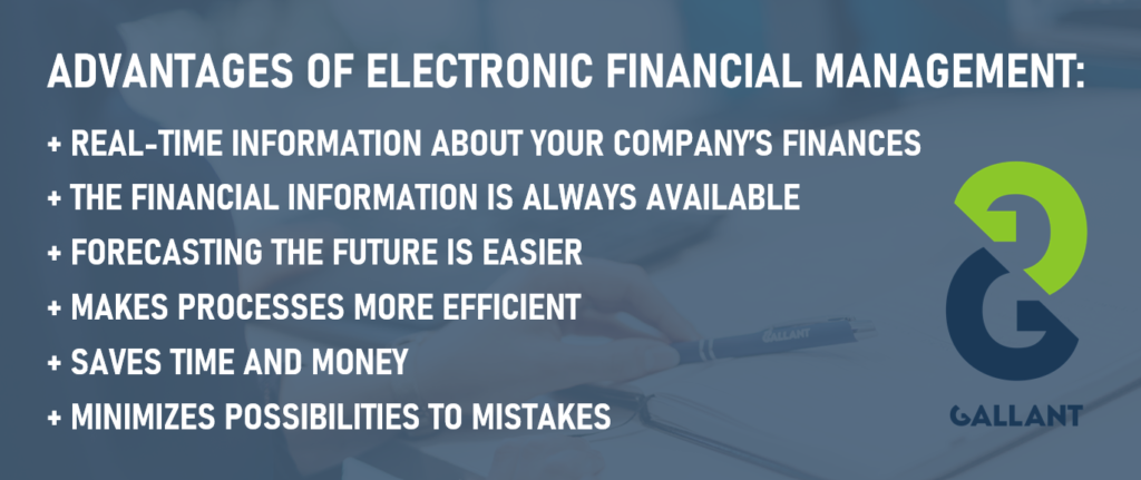 Advantages of Electronic Financial Management